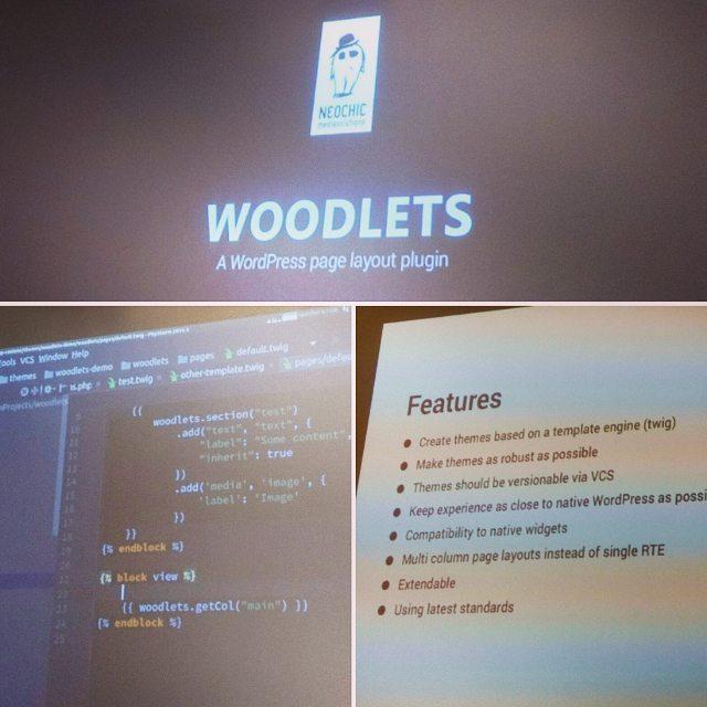 Woodlets-Vorstellung beim 23. WP Meetup Stuttgart