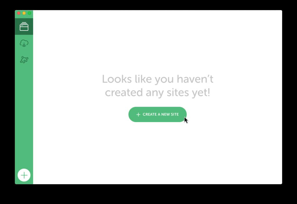 Screenshot: Eine lokale Testumgebung in Local anlegen
